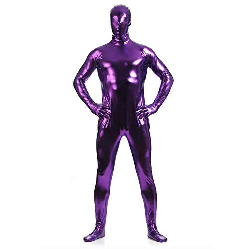 unbrand Erwachsene Frauen Kinder Ganzkörper Jumpsuit Spandex Zip Up Body Zentai Morph Unsichtbare Cosplay Mens Fancy Dress Costume