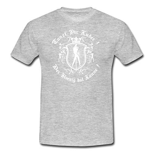 Spreadshirt Tanzt, Ihr Luder ! Männer T-Shirt, 4XL, Grau meliert