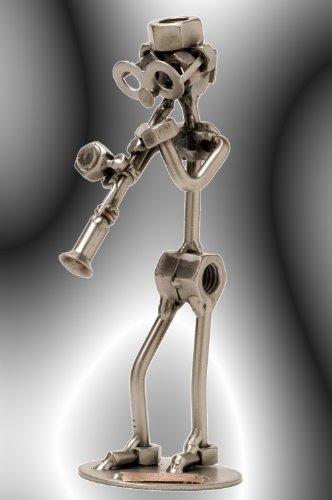 """Boystoys HK Design - Schraubenmännchen Klarinette \""""Klarinettist\"""" - Metall Art Geschenkideen Deko Skulptur Musiker & Musikinstrumente - hochwertige Original Figuren handgefertigt"""