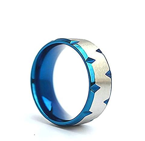 AMDXD Schmuck Herren Ring Titanstahl Bicolor Raute Lücke Design Silber
