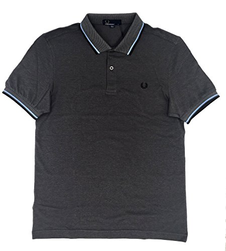 Fred Perry Clothes Polo Marengo Jaspeado Pique MC De Marengo