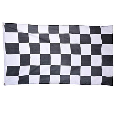 Bongles 35.4x59 Zoll Groß Racing Flag Flag Checkered Flag Flag Printed Polyester Messingunterlegscheiben