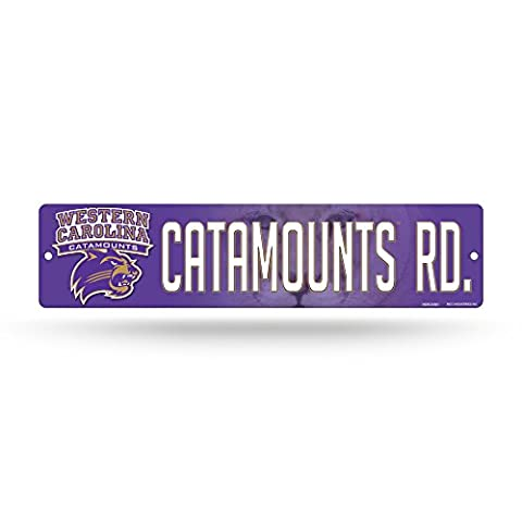 NCAA Western Carolina Catamounts High-Res Plastic Street Sign