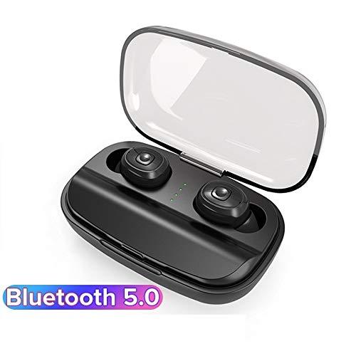 CDXC TWS Kopfhörer Bluetooth,T28 TWS V5.0 Bluetooth Stereo-Kopfhörer Deep Bass für Samsung iPhone Kopfhörer Business/Fahren/Büro/LKW-Fahrer/Sport (Schwarz) (Bose Bluetooth-stereo-headset)