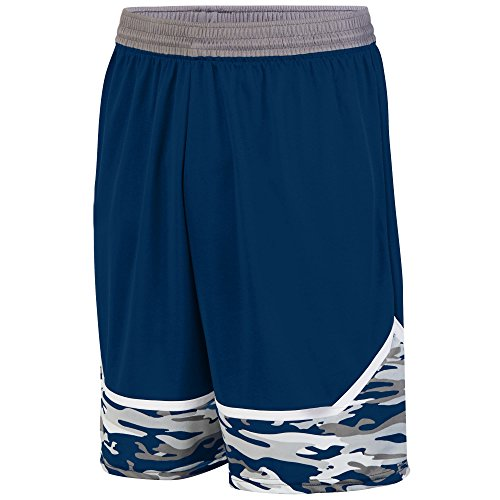 Augusta Sportwear -  Pantaloncini  - Uomo NAVY/GRAPHITE/WHITE
