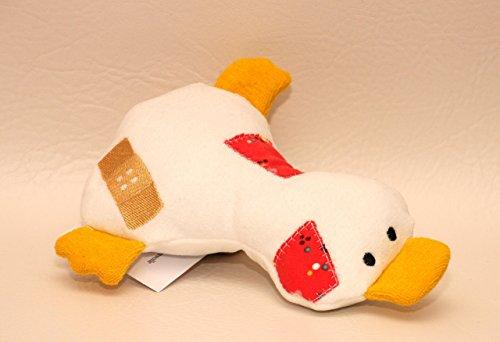 Kuscheltier Ente aus Bio Baumwoll Nicki, Bio Frottee und Bio Jersey, Trösterchen, handgemacht, Personalisierbar mit Namen, Rassel, Knisterfolie (Tröster Baumwoll-jersey)