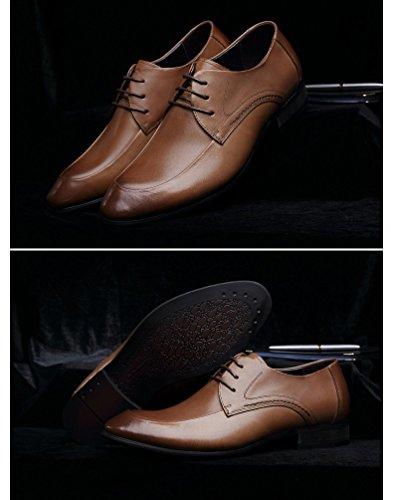 kakaka hommes Chaussures de chaussures Business pour léger en cuir de vache brown