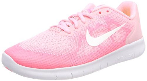 Nike Mädchen Free RN 2 (GS) Laufschuhe, Pink (Arctic Punch/mtlc Summit Wht 602), 35.5 EU
