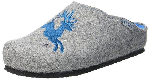 TOFEE Damen 74-552 Hirsch Pantoffeln, (Grau/Blau), 40 EU