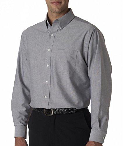 Camicia Oxford da uomo anti-pieghe con maniche lunghe Charcoal (60/40)