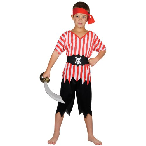 HIGH SEAS PIRATE CHILDREN KIDS COSTUME FANCY DRESS UP PARTY