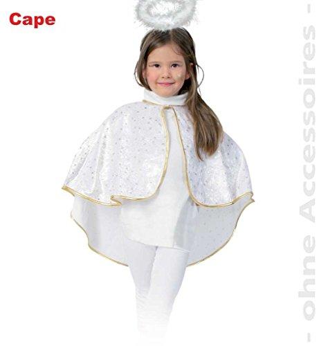 FASCHING 10040 Kinder-Kostüm Cape Engel Panne-Samt Umhang NEU/OVP: Größe: 098 (Kostüm Panne)