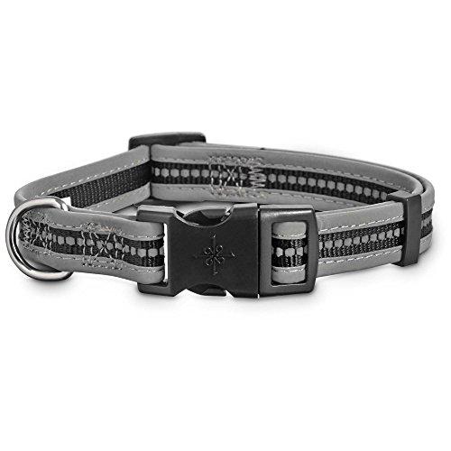 good2go Reflektierende Verstellbare Hundehalsband in Schwarz, Large/X-Large, Schwarz (Halloween Reflektierende Halsbänder)