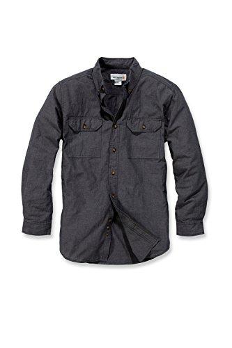 Carhartt S202 L/S Fort Solid Shirt - Arbeitshemd - Freizeithemd (L, Dunkelblau) (Arbeitshemd Carhartt)