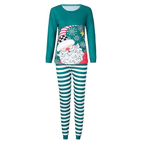 Weihnachten Set FORH Damen Cute Santa Schneemann muster mit Weihnachts geschenk Bedruckt Sweatshirt und warm lang Jogger Trainingsanzug Hosen Zwei Stück Loungewear -Damen (L, Schneemann)