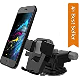 CQLEK® Neckline Premium Car Mobile Phone Holder - Telescopic One Touch Long Neck Arm 360 Degree Rotation | Ultimate Reusable Suction Cup Mount for Dashboard Windshield Desktop up to 6.5 inch Mobile