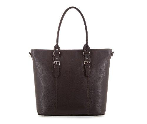 Wittchen Bolso de cuero Elegance | Color: Marrón | Material: Cuero de grano | Altura (cm): 34 - Anchura (cm): 44 | Colección: Elegance | 83-4E-912-4