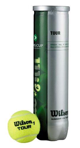Wilson Tennisball Tour Davis Cup, gelb