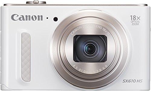 Canon PowerShot SX610 HS Digitalkamera (20,2 Megapixel, 18-fach opt. Zoom, 36-fach ZoomPlus, 7,5cm (3 Zoll) Display, opt. Bildstabilisator, WLAN, NFC) weiß