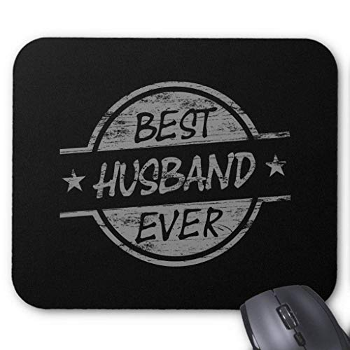 Best Husband Ever Gray Mouse Pad 18×22 cm