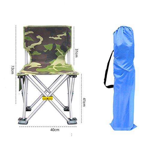 LDFN Klappstuhl Durch Outdoor Ultraleichte Tragbare Multifunktionale Stuhl Angeln Stuhl Strandkorb Einfachen Hocker ,D-40*40*72cm