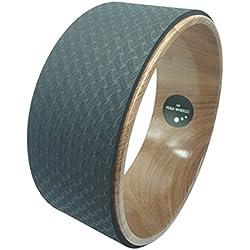 Rueda de yoga MyYogaWheels para estiramiento, equilibrio, flexibilidad, dolor de espalda y flexión de Pilates, relaja el tejido profundo, las caderas y los hombros 33 x 13 cm (13 pulg)