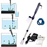 Electric Fish Tank Vacuum Cleaner Battery Syphon Operated Gravel Water Filter Cleaner S