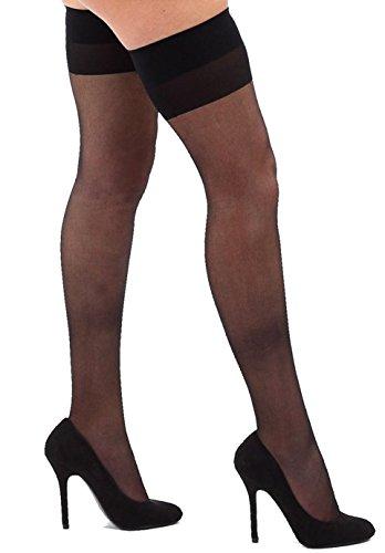 Krautwear Damen Strumpfhose Offen Netzstrümpfe Halterlose Netz Straps Strümpfe Elegant Sexy Netzstrumpfhose Hoher Bund Schwarz Rot Weiss Neon Pink Grün Kostüm Fasching Karneval 80er (190-black)