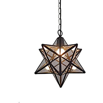 Moravian star clear glass chrome ceiling light shade pendant hjxdtech retro nordic style pentagram stereo star pendant light electro soldering glass ceiling lamp loft rural chandelier transparent mozeypictures Image collections