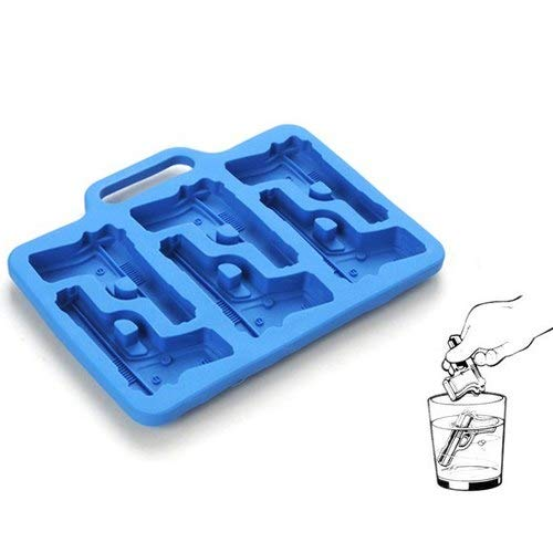 Ice Cream Makers - 3d Pistol Ice Mold Diy Bar Drinking Silicone Cooking Cutter Molds Cream Mould Maker - Ball Mold Cream Cream Makers Jelly Mold Mujiang Shape Rebar Cake Mould Chocolate V Ice Cutters