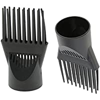 Desconocido SGerste 2 piezas de alta calidad universal peluquería peluquería secador de pelo difusor de soplado peine accesorio de pelo estilo boquilla herramienta de doble agarre