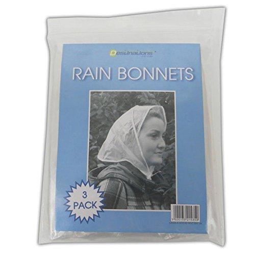 Kunststoff-Regen-Mützen, durchsichtig, Notfall-Kopfabdeckung, Hutschutz, für...