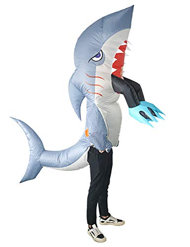 Haifisch Aufblasbare Kostüm - THEE Aufblasbare Kostüm Lustig Kostüm für Party Halloween Karneval Fastnacht Fasching Uniform Anzug ,Haifisch
