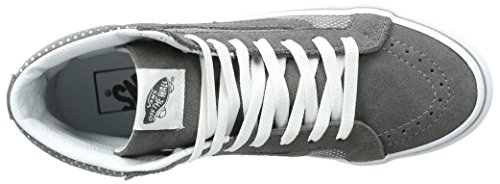 Vans Ua Sk8-Hi Slim, Scarpe da Ginnastica Alte Donna Grigio (Metallic Dots Dark Gray/pewter)