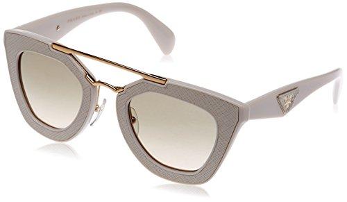 Prada Damen 0PR14SS UFP3H2 49 Sonnenbrille, Weiß (Ivory/Light Brown)
