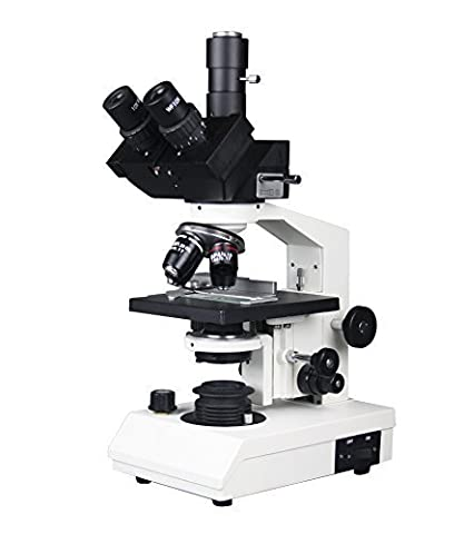Radical 40-2500X Professional High Power Medical Vet Trinocular Medical Biology Microscope W 3D Stage Abbe Condenser Variable Halogen Illumination Semi Plan Objectives Slides