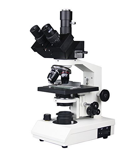 Radical 40–2500x Profi High Power Medical Trinokular Biologie Mikroskop w 3D Stage Abbe-Kondensator Variable Akku LED Beleuchtung Semi Plan Ziele Folien, 3MP Kamera