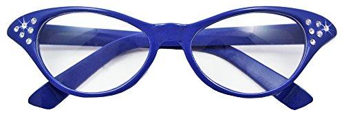 le Diamond Blau (60er Jahre Brille)