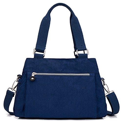 HT Nylon Shoulder Bag, Borsa a spalla donna Fluorescent Blue