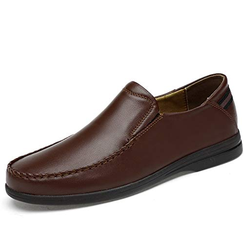 Cvbndfe-Men's Casual Shoes Bequeme Herrenschuhe Mode Oxford Bequeme leichte weiche Slip On Schuhe Atmungsaktiv bequem (Color : Braun, Größe : 39 EU) - Angel Men Deodorant