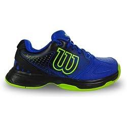Wilson WRS321830E015, Zapatillas de Tenis Unisex Niños, Azul, 34 EU