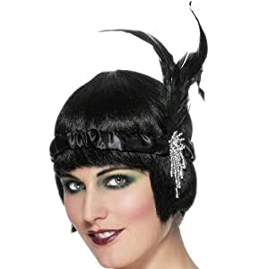 Bandeau Charleston noir années 20-30 - bandeau pour les cheveux - Headband - bijou de tête - accessoires - accessoire de costume