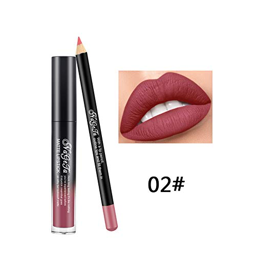Xiton 2PCS / SET brillo labios Perfilador Set lápiz
