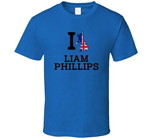 I Love Liam Phillips Great Britain Cycling Olympics T Shirt Large (Liam Phillips)