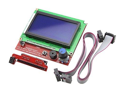Kentop LCD 12864 Smart Display-Controller mit Adapter + Kabel für RAMPS 3D Printer Kit Zubehör