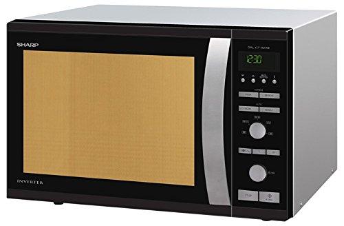 sharp r941bkw mikrowelle 1050 w 40 l garraum inverter technologie 1450 w hei luft 40. Black Bedroom Furniture Sets. Home Design Ideas