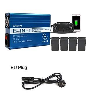 Bescita DJI 6in1 Ladegerät Fernbedienung Dual USB Ladegerät für DJI Mavic Air EU
