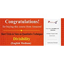 Practice Guru Short Tricks and Notes on Quantitative Techniques - Divisibility (Email Delivery in 2 Hours) (Activation Key Card)