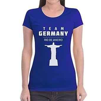 Fan Artikel Team Germany Rio Jesus 2016 Olympia Frauen T-Shirt