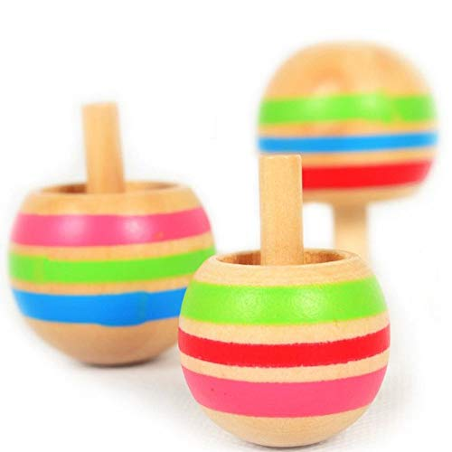 Ahagogo 3pcs Magic Tippe Top Self-inverting Spinning Spinner Wooden Toy Wooden Gyro Finger Spinner Desktop Spinning Top Kids Toy Stress Reliever